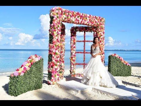 Fantasy Beach Wedding Designed By Jo-Anne V. Brown & Celebrations Ltd. - Cayman Islands