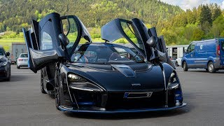 McLaren Senna racing at the Red Bull Ring - before it caught fire