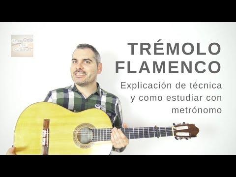 Trémolo Flamenco - Explicación Y Estudiar Con Metrónomo