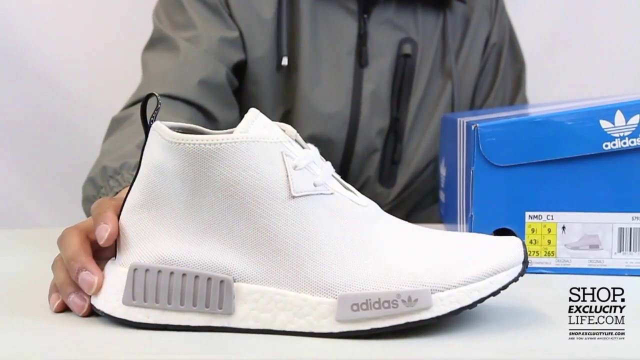 8af59816d9e3 Adidas NMD Chukka White - Grey Unboxing Video at Exclucity - YouTube