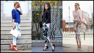 Fabulous Street Style Looks With Printed Trousers