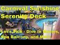 Carnival Sunshine Serenity Deck | Carnival Dive In Movies | Carnival Sunshine Spa Balcony