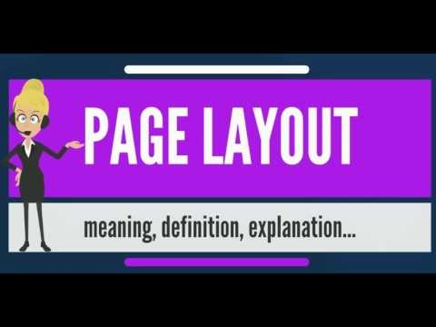 what is page layout what does page layout mean page layout meaning