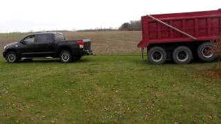Tundra pulls out dump truck