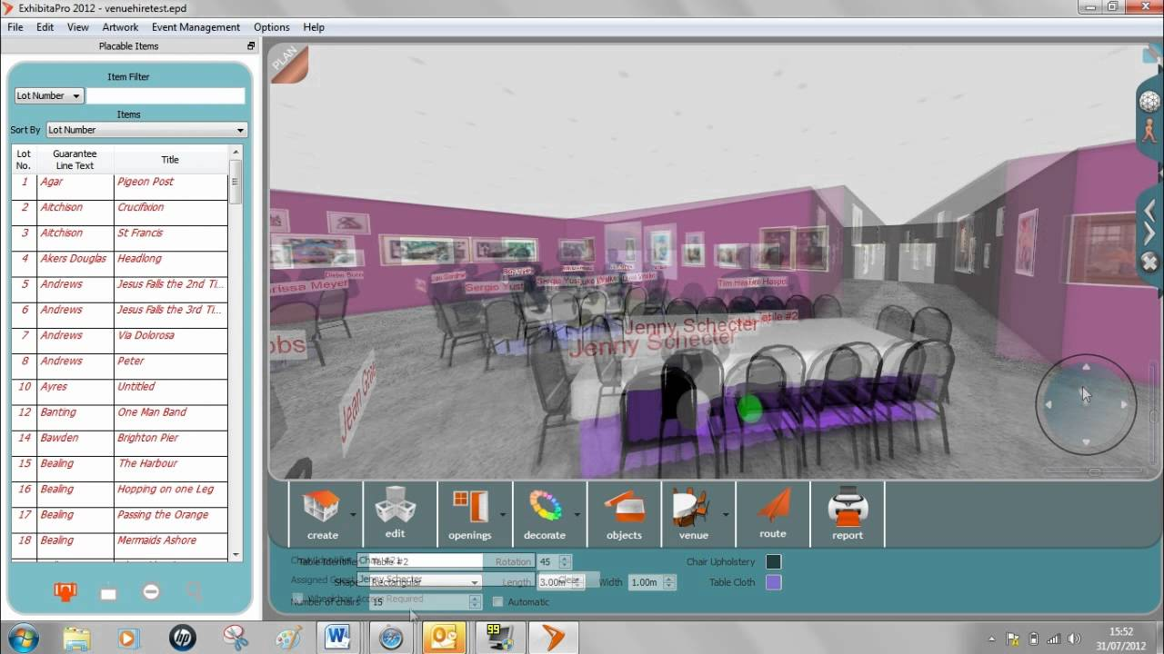 Exhibitavenue 3d event design management youtube for 3d wedding design software