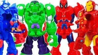 Hulk, Avengers & Mech Armor Appeared Defeat Thanos & Monster #Toymarvel
