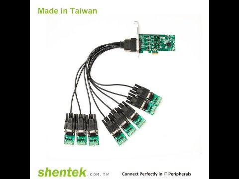 Industrial 8 port High Speed Serial RS 232 RS232 RS422 RS485 RS 422 RS 485 PCI Express PCIe Card sup