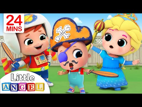 Смотреть This is the Way We Get Ready for Playtime |Little Angel Nursery Rhymes онлайн