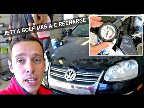 VW JETTA TDI GOLF MK5 A/C RECHARGE 2006 2007 2008 2009 2010