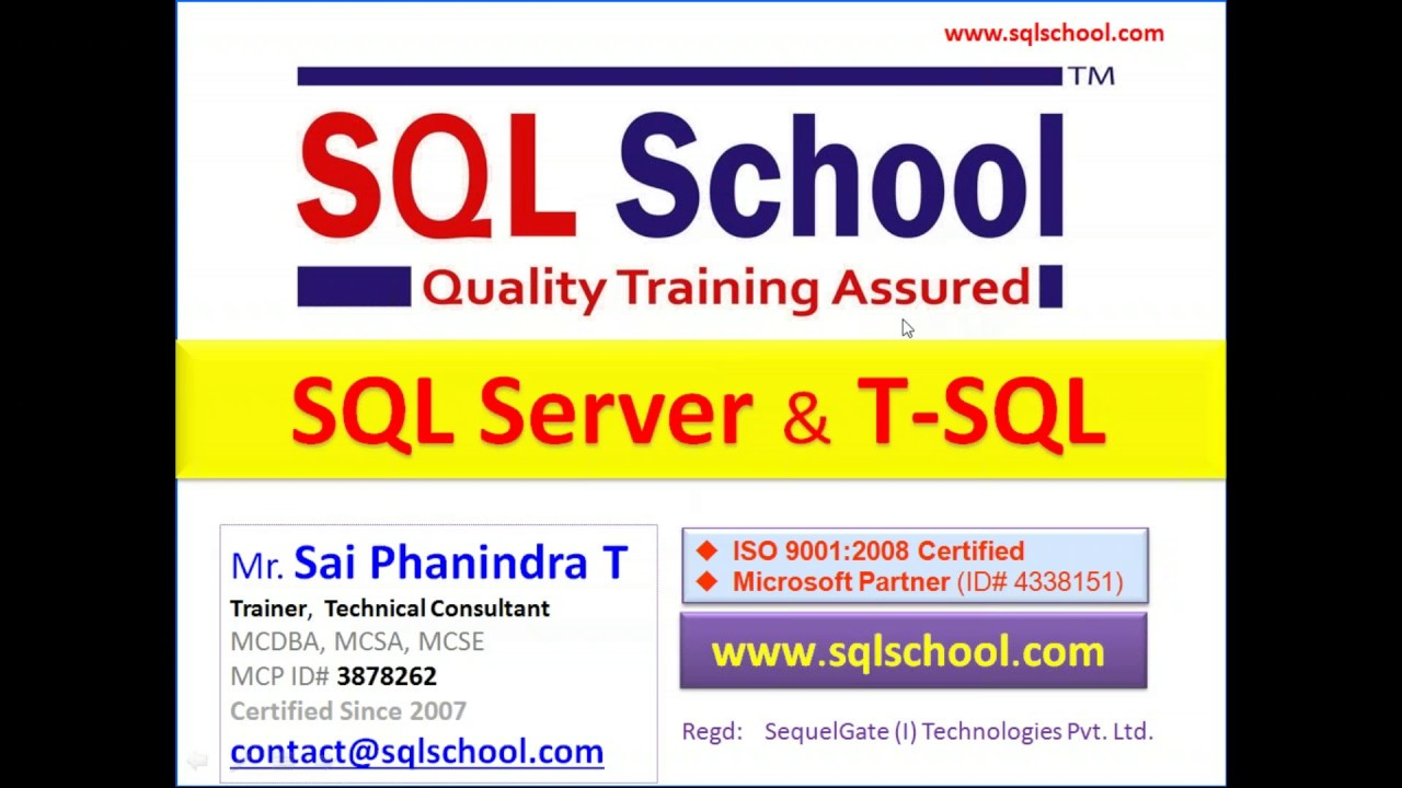 SQL Server | SQL DBA | MSBI | Power BI | Azure | Training