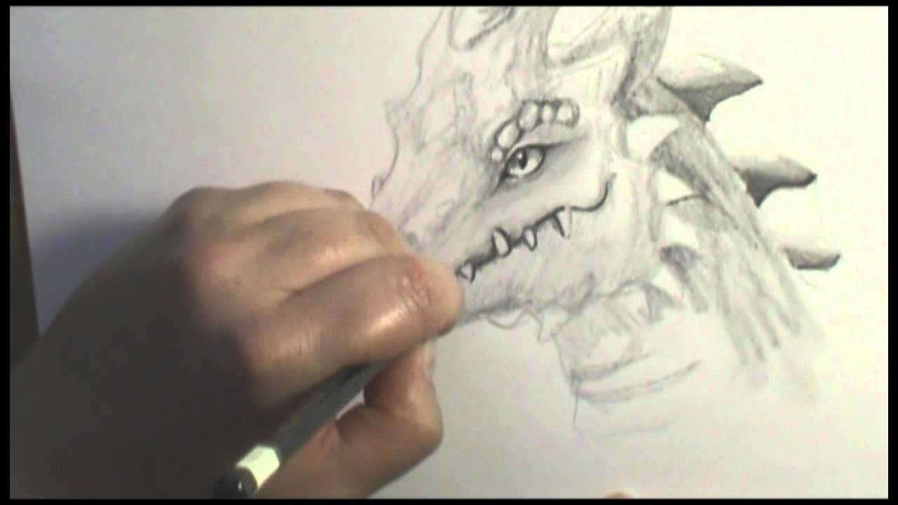 Speed drawing of a dragon head reloaded youtube ccuart Choice Image