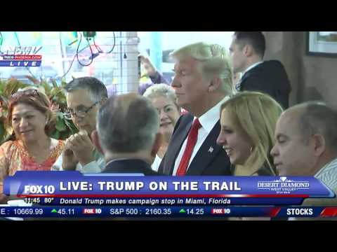 EXCLUSIVE TRUMP CAMPAIGN: Behind The Scenes - Campaign Stop At Miami Diner
