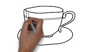 How To Draw Tea Cup And Saucer