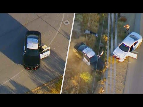 Suspect Steals Cop Car in Insane Police Chase
