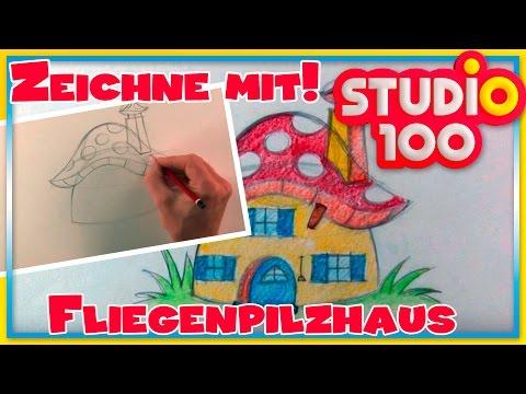 Fliegenpilzhaus – Zeichnen lernen für Anfänger – Schritt für Schritt!