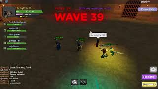 Roblox Dungeon Quest Let's Play (MADE IT TO WAVE 160 WITH WEAKEST GEAR)