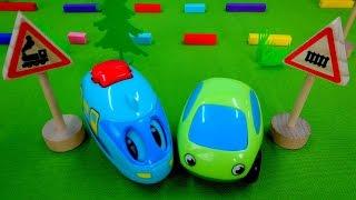 Мультики про машинки: Дорожные знаки для детей. Предупредительные знаки - Железнодорожный переезд(, 2015-05-02T12:37:33.000Z)