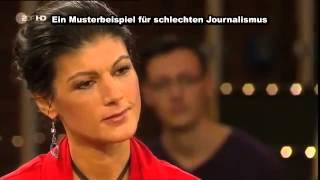 Sahra Wagenknecht, Lanz und Jörges - Musterbeispiel für schlechten Journalismus