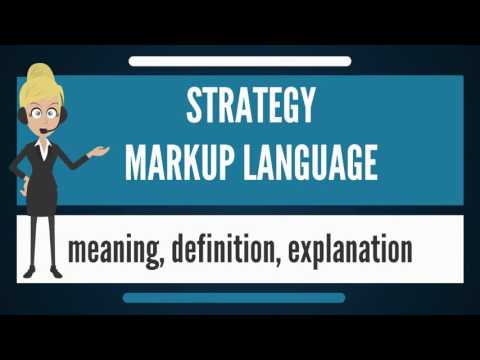 What is STRATEGY MARKUP LANGUAGE? What does STRATEGY MARKUP LANGUAGE mean?