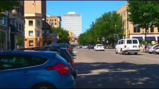 Around the City Center in Saskatoon of Saskatchewan in Western Canada.