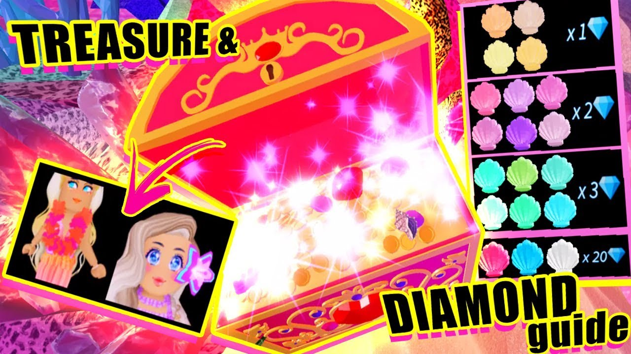 EVERY SECRET TREASURE CHEST & SHELL (DIAMOND) LOCATION in Sunset Island  🐚💎 Royale High UPDATE
