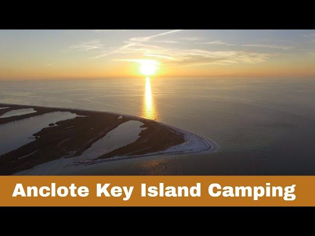 Solo camping at Anclote Key island