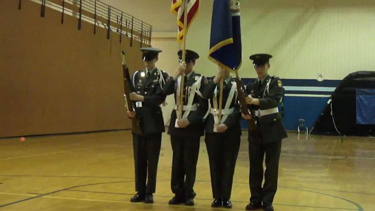 WSHS Army JROTC Color Guard Liberty 2012