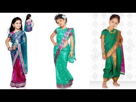 Kid's Cute Saree Designs
