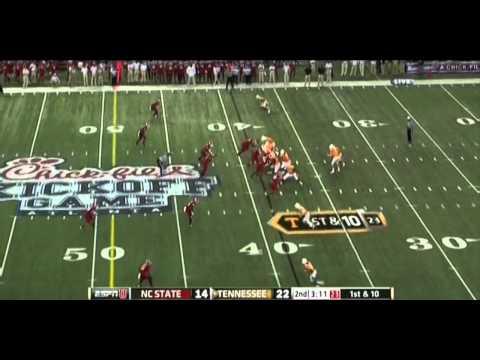 Tyler Bray vs NC State 2012