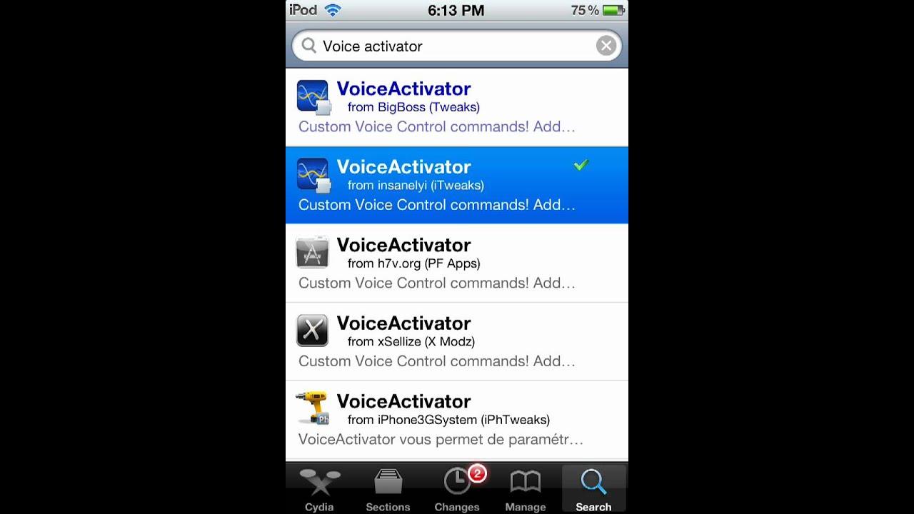 activator commands cydia