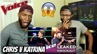 The Voice 2017 The Knockouts Chris Weaver Vs Katrina Rose Reaction Gone Wrong