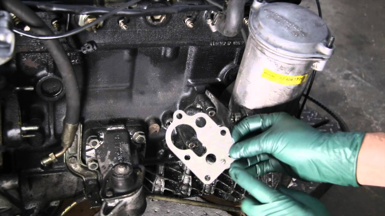 hight resolution of diesel engine maintenance tip 20 oil filter housing gasket leak youtube