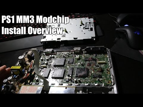 PS1 MM3 Modchip - Install Overview & Demonstration
