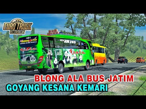 "Ciri Khas Bus Jatim ""Sing Penting Yakin"" Bus Restu Panda Ambil Resiko - ETS2 MOD INDONESIA - 동영상"