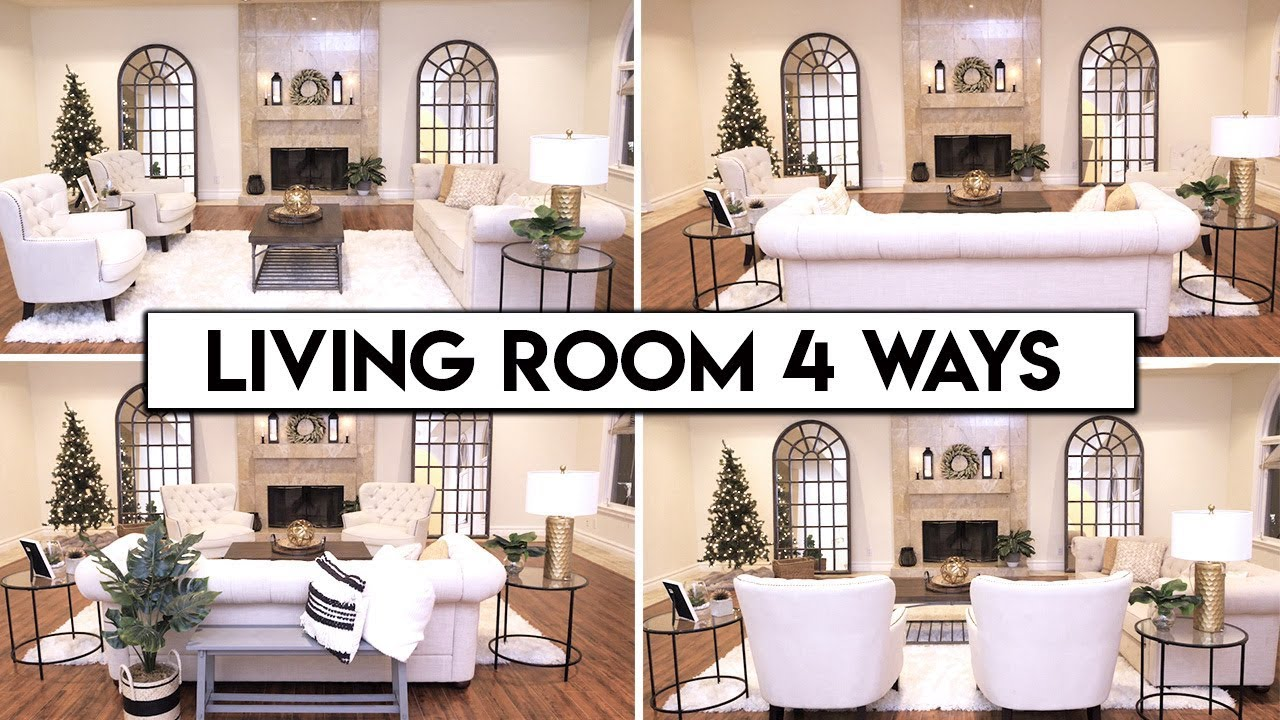 4 LIVING ROOM LAYOUT IDEAS | Easy Transformation - YouTube