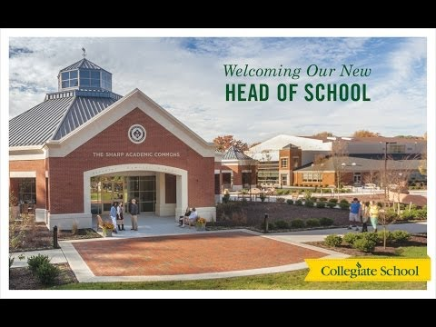 Collegiate School Head of School Announcement Dec. 5, 2013