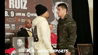 WHO YOU GOT?! TANK VS RUIZ LAST STARE DOWN BEFORE THE WEIGH INS!