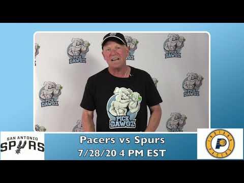 Indiana Pacers vs San Antonio Spurs 7/28/20 Free NBA Pick and Prediction NBA Betting Tips
