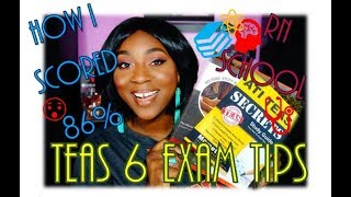 2018 TEAS 6 EXAM| 86% Advanced| TIPS & Resources| Nursing School