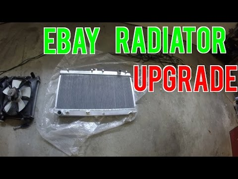 """NB Miata Daily/Drift Build - Part 7 - Ebay """"Mishimoto"""" Radiator Install"""