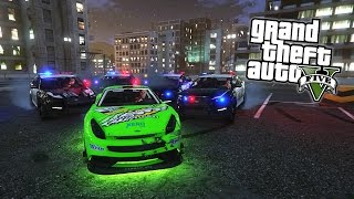 GTA 5 Online - BUSTED!!! GTA 5 Cops vs Robbers Custom Mini Game Mode Online! (GTA 5 Funny Moments)