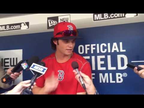 Andrew Benintendi joins Boston Red Sox in Seattle