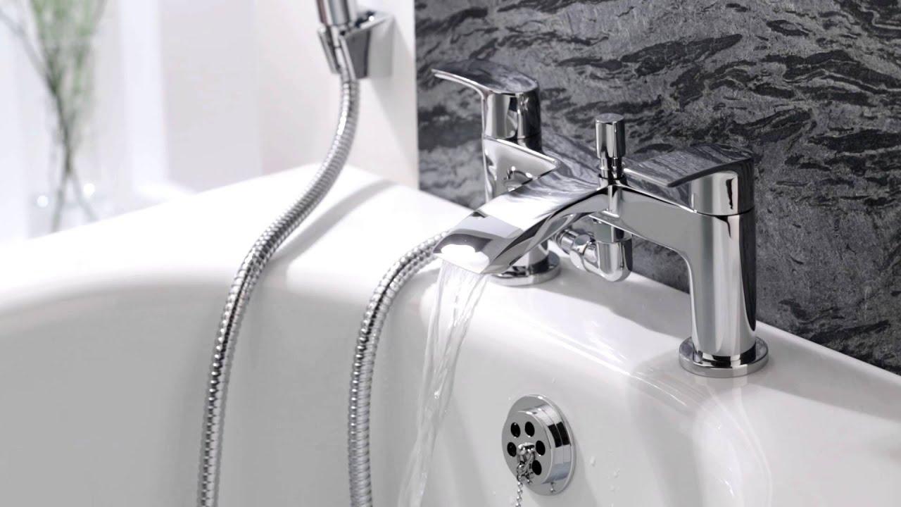 Hudson Reed Wannenrand Armatur für Badewannen Wasserfall BT0003C ... | {Badewannen armaturen wasserfall 74}