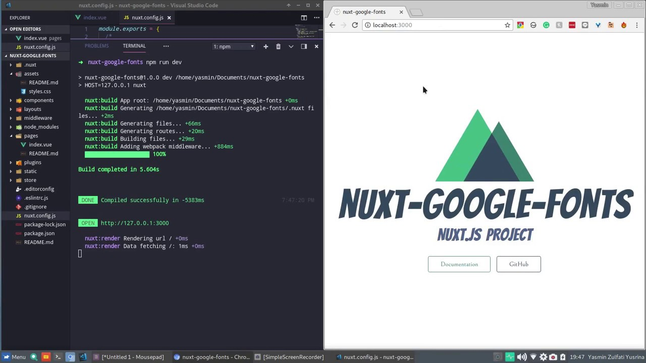 How to use Google Fonts in a Nuxt Project