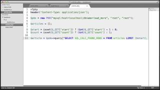 jQuery Load More Plugin: Backend (Part 2/4)
