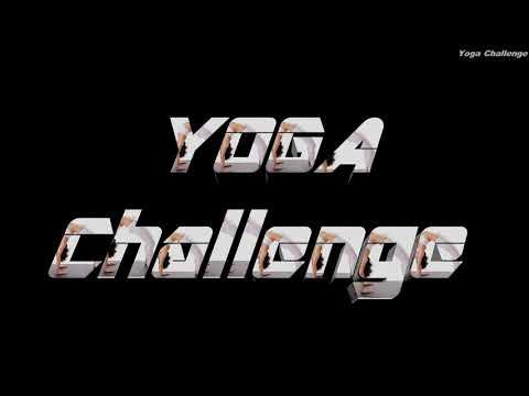 Teen young girls yoga gymnastic challenge