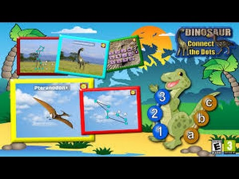 Kids Dinosaur Join and Connect the Dots Puzzles -Rex Teaches the ABC ...