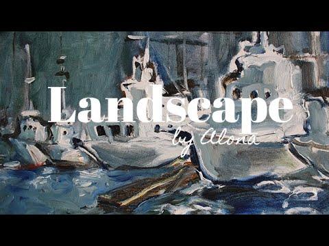 ODESSA    LANDSCAPE    OIL PAINTING DEMONSTRATION