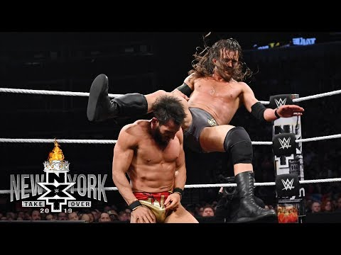 Adam Cole scores first against Johnny Gargano in a 2-out-of-3 Falls Match: NXT TakeOver: New York