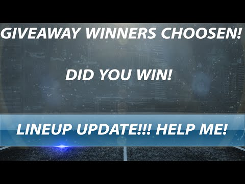 GIVEAWAY WINNERS ANNOUNCED AND LINEUP UPDATE HELP ME CHOOSE PLAYERS - Madden Ultimate Team 16
